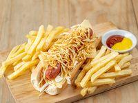 Caribbean Dog con fritas