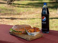 Promo 6 - 1 tortugon de bauru + fritas comunes + pepsi 1.5 L