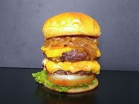 Doble onion point burger