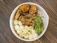 Shirashi de pollo teriyaki