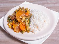Verduras salteadas con arroz