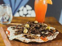 Pizza con hongos y panceta 8 por