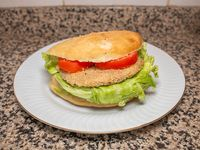 Sándwich de hamburguesas de garbanzo