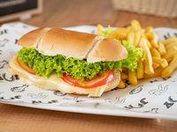 Sándwich clásico + guarnición