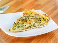 Tarta de brócoli (porción)