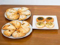 Combo promocional - 12 empanadas y 4 tartines de regalo