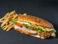 Sándwich de milanesa en pan de lomo