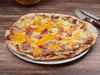Pizzeta cheddar Y panceta 42 cm