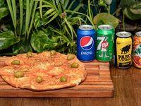 Combo - Pizza a elección + 4 Gaseosas línea Pepsi 354 ml