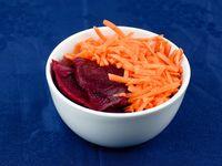 Ensalada de remolacha y zanahoria rallada
