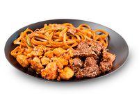 Wok Box 6 Carne Teriyaki/ Pollo Mani Agri-Picante