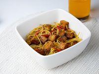 Fideos de arroz con tofu y verduras - SIN TACC