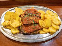 Bife especial napolitano (para compartir)