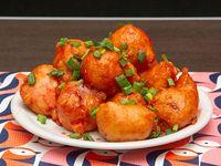Pollo doradito con salsa agridulce
