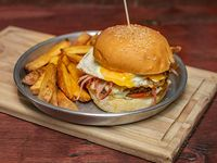 Burger classic Johnny con papas fritas