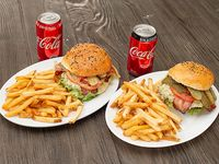 Promo - La pareja de hamburguesa azulina 2 combos XL