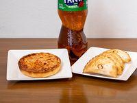 Combo 2 - tarta + 4 empanadas + gaseosa 2 L