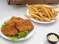 Combo - Caribbean tender 4 pechuguitas de pollo crispy + papas fritas
