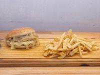 Chicken burger fugazzeto