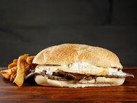 Sándwich  gourmet cuatro quesos