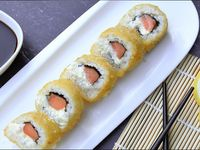 Hot salmón roll