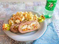 Combo 2 - Matambre casero con ensalada rusa + gaseosa línea Pepsi 500 ml o cerveza Budweiser 500 ml lata