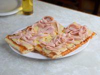Promo 2 x 1 - Pizza a la Salsa con jamón y muzzarella al tacho