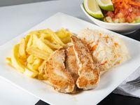 Filetillo de pollo con guarnición