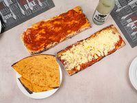 Promo 8 - 3 porciones pizza + 3 porciones pizza muzzarella + 3 faina