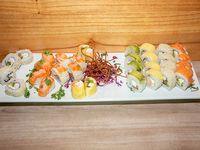 Combinado de salmón y langostinos - 32 piezas