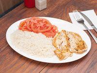 Pechuga de pollo a la plancha con acompañamiento