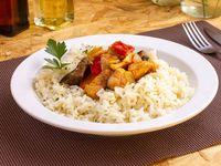 Menú del día 3 - Ragú de pollo con arroz + Coca Cola 220 ml