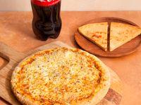 Promo 7- Pizza grande muzzarella + bebida 1.5 L + 2 faina