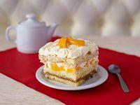 Minicake - torta durazno/crema/dulce D leche