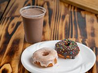 1 Chocolate caliente + 2 donuts