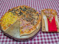 Pizza caprese cuatro estaciones