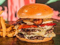 Triple Temple Burger + Papas