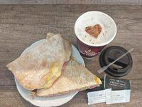 Promo - Café con leche + tostado de pan árabe