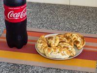 Promo 3 - 6 empanadas + bebida línea Coca Cola 1.5 L cero