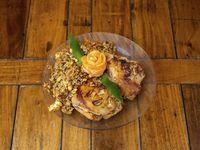 Pechuga de pollo rellena con arroz chino