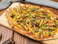 Pizza con cheddar