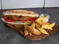 Sándwich de milanesa simple