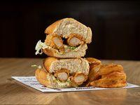 Chicken po'boy sándwich