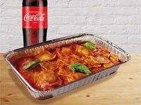 Raviolis de Carne Familiares + Coca-Cola Sabor Original 1.5Lt
