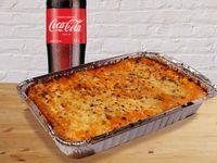 Lasagna Bolognese Familiar + Coca Coca Sabor Original 1.5Lt