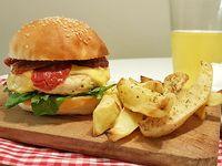 Sándwich de hamburguesa de pollo