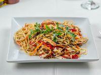 Spaghettis al wok