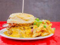 Burgers doble con fritas