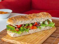 Sándwich nuestra huerta vegetariano Raw