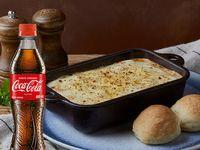 Combo Lasaña Boloñesa Pollo y Champiñones + Coca Cola